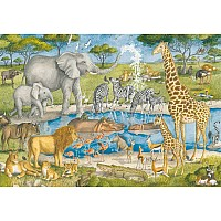 24 pc Floor Puzzle Watering Hole Delight