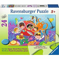 24 pc Deep Diving Friends Floor Puzzle
