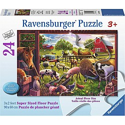 Animals of Bells Farm 24pc floor puzzle