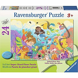 24pc Puzzle - Splashing Mermaids