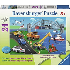 A Day on the Job 24pc Floor Puzzle