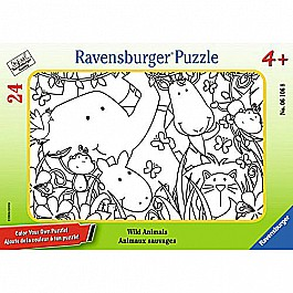 Wild Animals Color Your Own 24 Piece Frame Puzzle