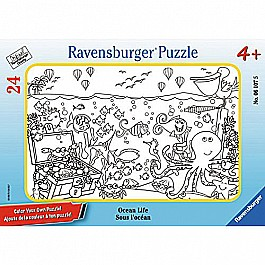 Ocean Life Color Your Own 24 Piece Frame Puzzle