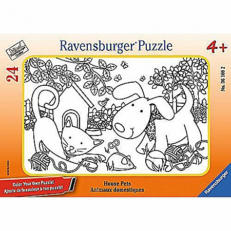 House Pets Color Your Own 24 Piece Frame Puzzle