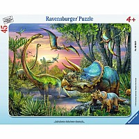 Dinosaurs at Dawn 45 pc Tray Puzzle