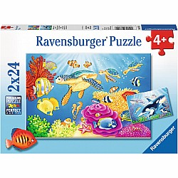 2x24pc Puzzle - Vibrance Under the Sea