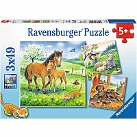 3 x 49 pc Cuddle Time Puzzles