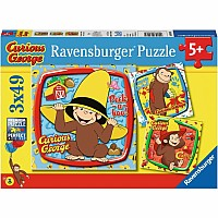 3 x 49 pc Curious George and Friends Puzzles