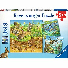 Animals in their Habitats - 49 Piece