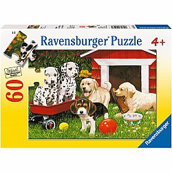 60pc Puzzle - Puppy Party