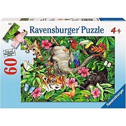 60pc Puzzle - Tropical Friends