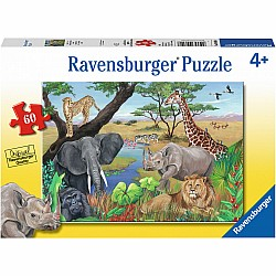 60pc Puzzle - Safari Animals
