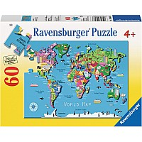 60 pc World Map Puzzle