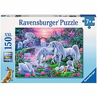 Unicorns In the Sunset Glow 150 pc puzzle