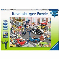 100 Piece Police on Patrol Puzzle