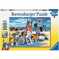 100 Piece No Dogs at the Beach Puzzle