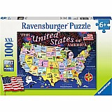 100 Piece State Map Puzzle