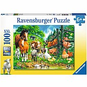 Animals Get Together 100 Piece Puzzle