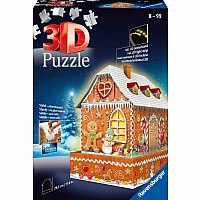 3D Puz Gingerbread House Night