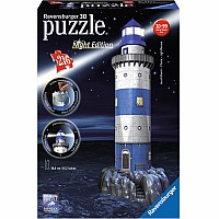 "3D: 216-Piece ""Lighthouse by Night"" Puzzle"
