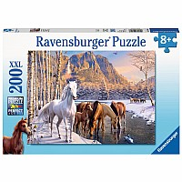 200 pc Winter Horses Puzzle