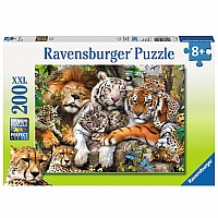 Big Cat Nap 200 pc puzzle
