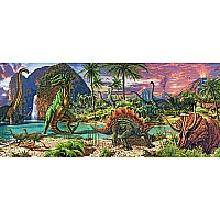 In the Land of the Dinosaurs (Panorama)