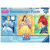 Beautiful Disney Princesses (200 pc Panorama Puzzle)