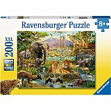 200 Piece Animals of the Savannah Puzzle
