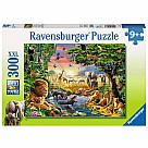 300 Piece Puzzle, Evening at the Waterhole