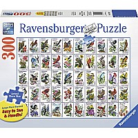 50 Bird Stamps 300 PC Large Format Puzzle