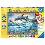 100 piece Vibrant Dolphins