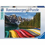 2000 Piece Mountain Canoes Puzzle