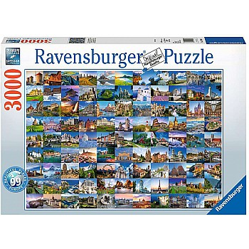 3000PC Puzzle - Beautiful Places of Europe