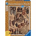 African Artifacts Wood Finish 1000 pc Puzzle - Ravensburger 190010