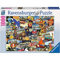1000pc Puzzle - Road Trip USA