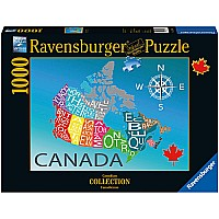 Colourful Canada 1000 Piece Puzzle