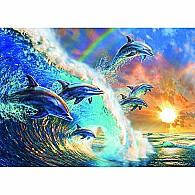 1000 pc Dancing Dolphins Jigsaw Puzzle
