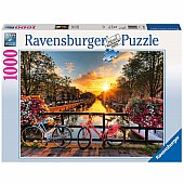 Bicycles in Amsterdam 1000 Pc Puzzle