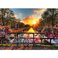 1000 Piece Puzzle, Bicycles In Amsterdam