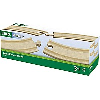 BRIO Large Curved Tracks- Set of 4
