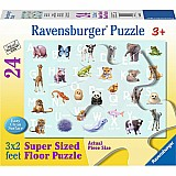 24 Piece Animal Alphabet Floor Puzzle