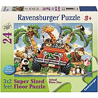 4-Wheeling - 24 Piece Floor Puzzle