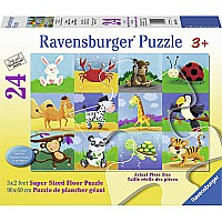 Animal Adventures 24 PC Floor Puzzle