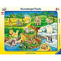 the Zoo Frame Puzzle - 14 Pc