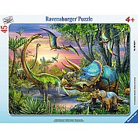 0045 Piece Puzzle Dinosaurs at Dawn