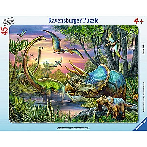 Dinosaurs at Dawn (45 pc Puzzle)