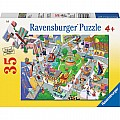 Busy City 35 Piece Puzzle