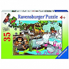 Day At The Zoo Puzzle - 35 Piece