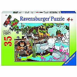 35pc Day At The Zoo Jigsaw Puzzle